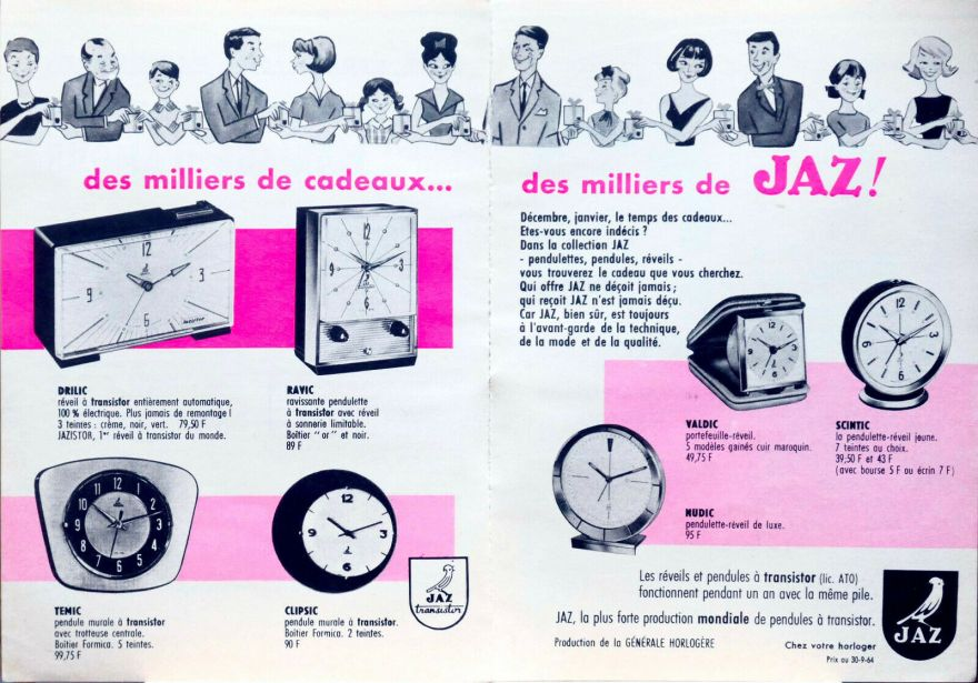 pub décembre 1964 drilic ravic temic clipsic valdic scintic nudic