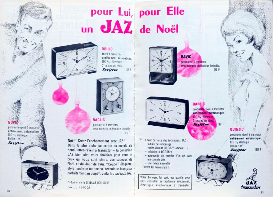 pub décembre 1965 drilic raclic novic ravic darlic quinzic