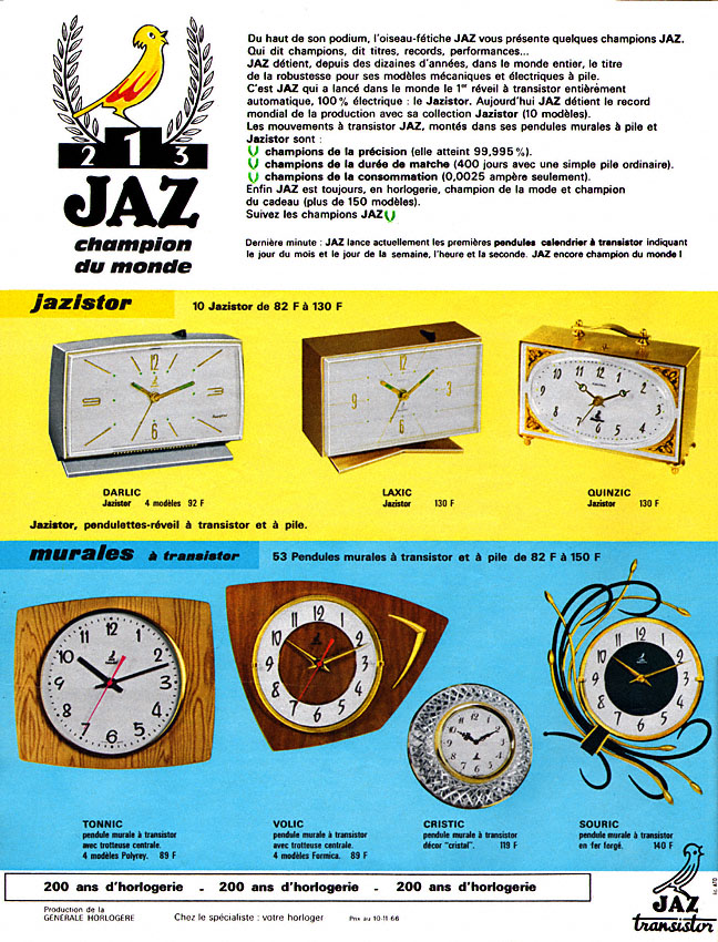 darlic laxic quinzic tonnic , volic , cristic , souric Paris match n° 922 déc 1966
