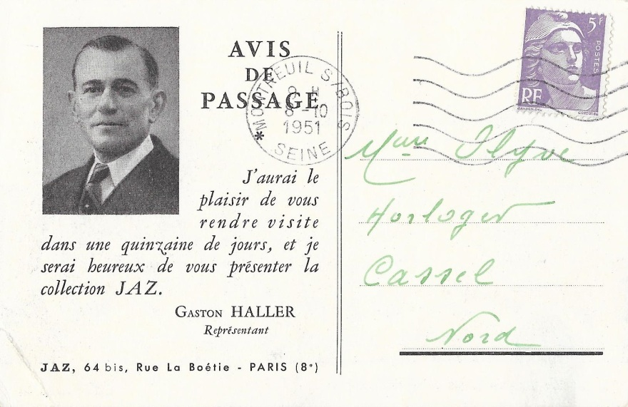 avis passage 1951 recto