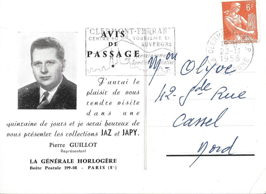 avis passage 1958 recto