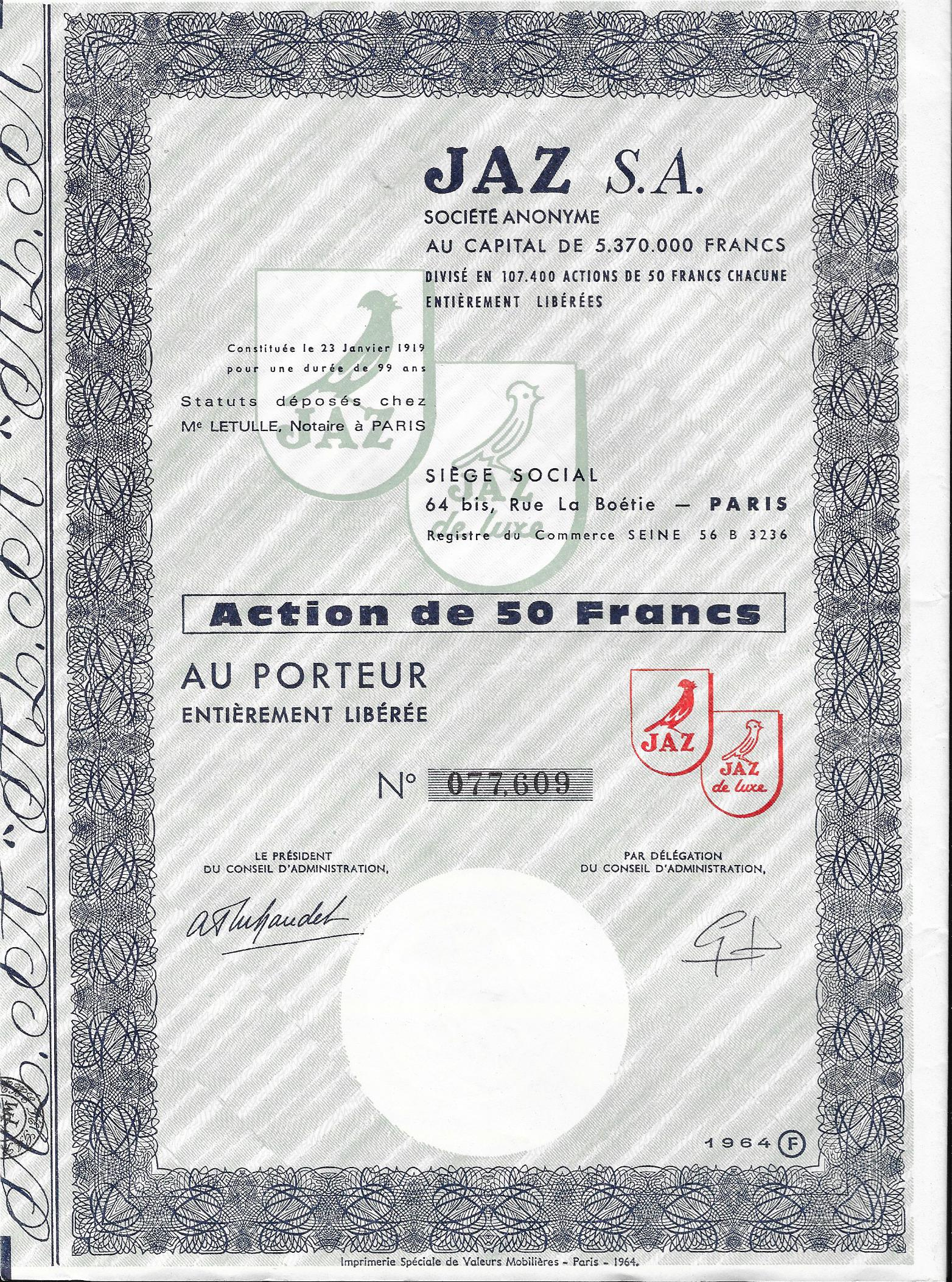 jaz-action-50-francs