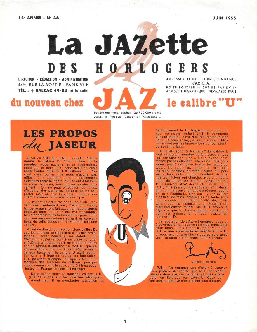 Jazette 36 Juin 1955 page 1