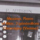 maxime, pierre et max aubrun, 3 générations à Chauvigny (Vienne)