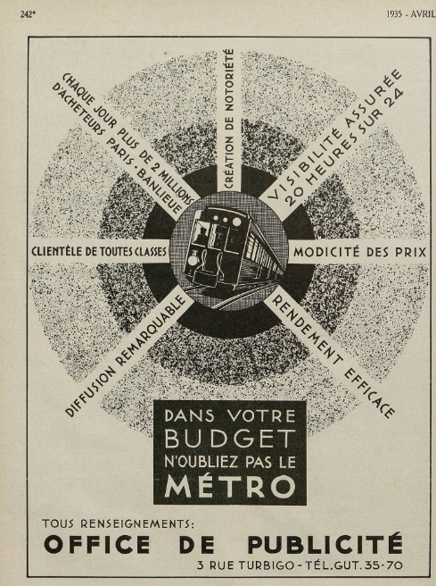 Métro Revue vendre Avril 1935