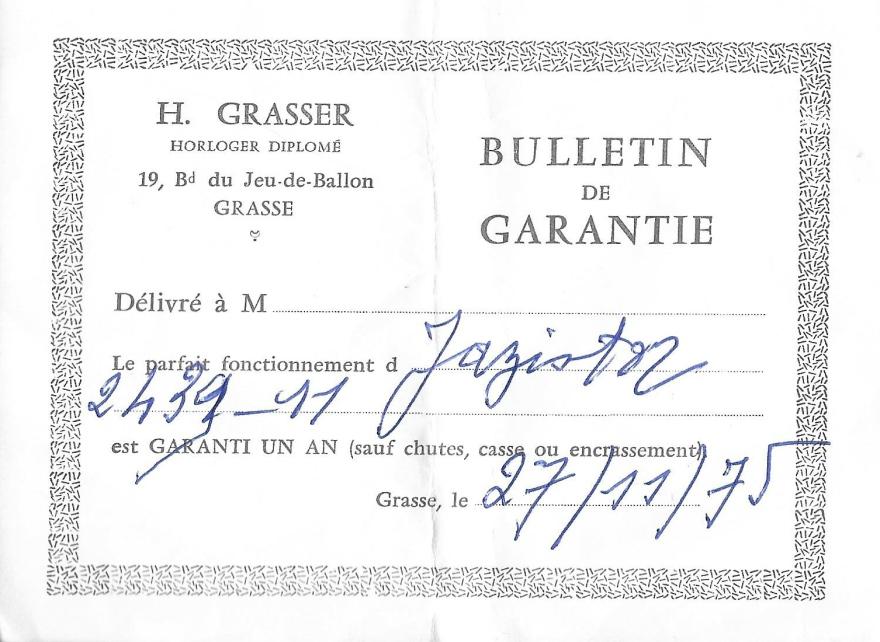 bulletin garantie Longric