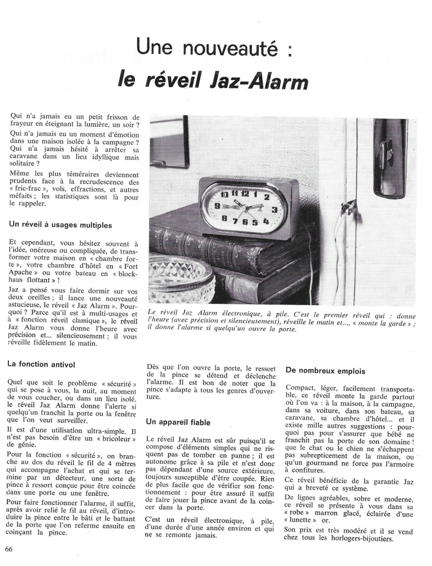 La France Horlogère  n°375 Février 1977  réveil alarm.jpg