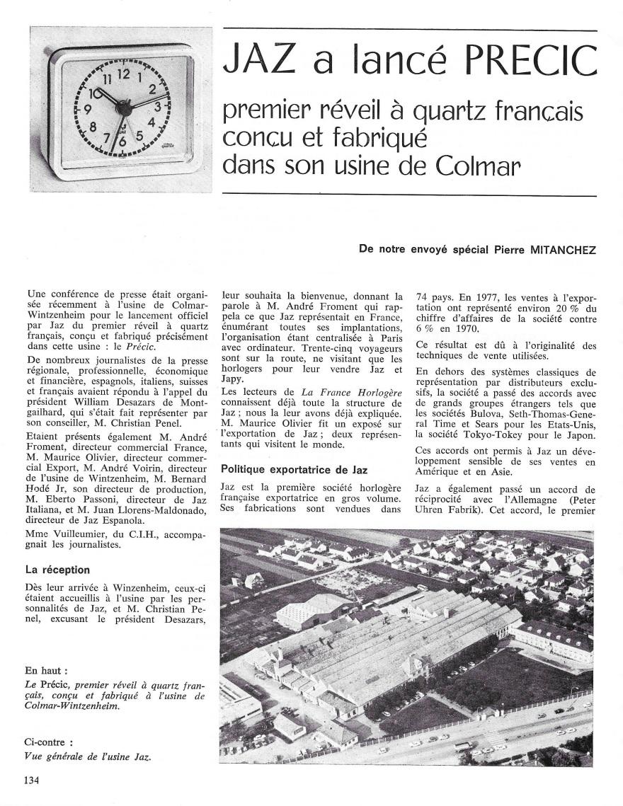 La France Horlogère n°392 sept 78 page 134