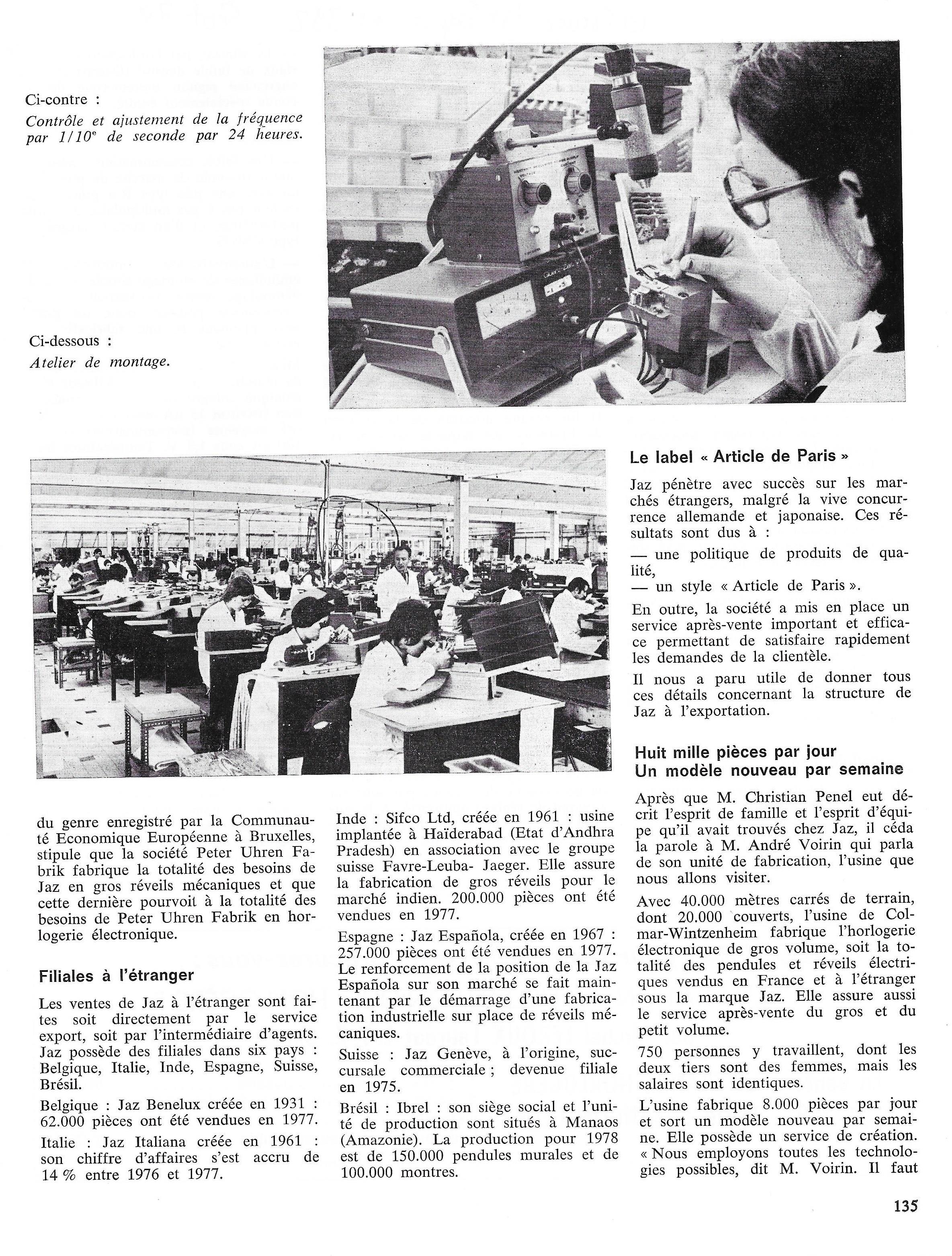 La France Horlogère n°392 sept 78 page 135