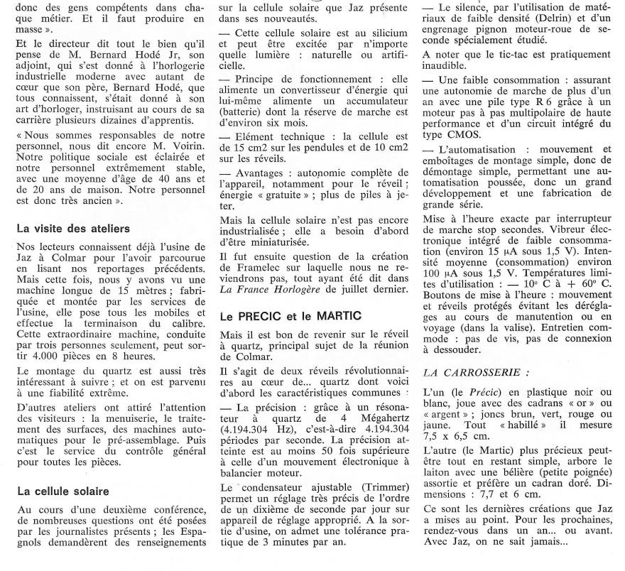 La France Horlogère n°392 sept 78 page 136