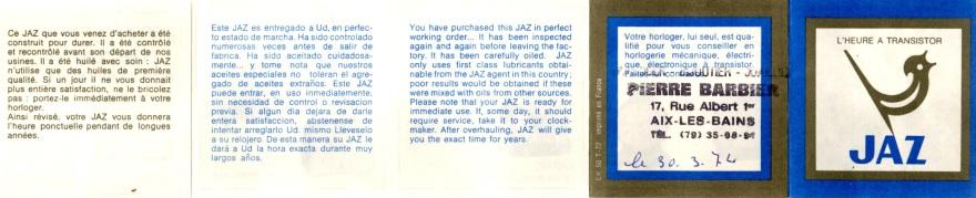 notice jaz recto 1974