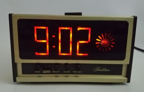 Vintage-Sears-Electric-Alarm-Clock-Rare-Swirl-Starburst