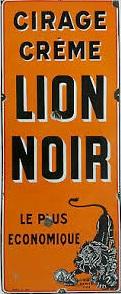 Lion Noir plaque émaillée (1)