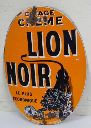 Lion Noir plaque émaillée (2)