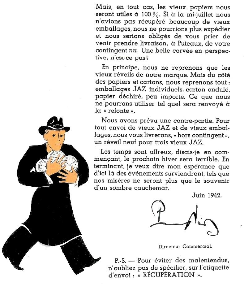 pénurie Jazette Juin 1942 page 1
