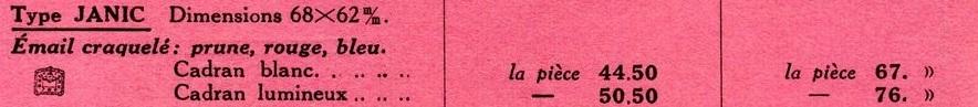tarif 1933