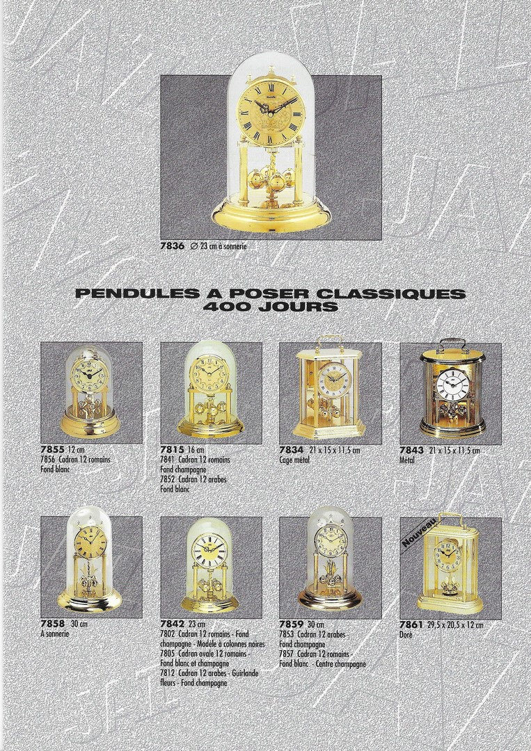 catalogue 1992 pend. à poser 3