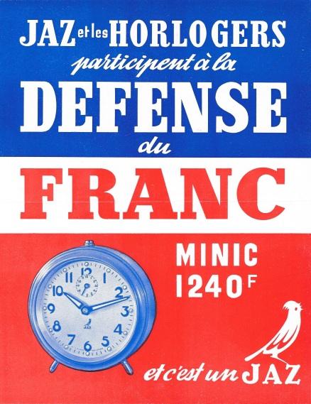 MINIC la défense du Franc