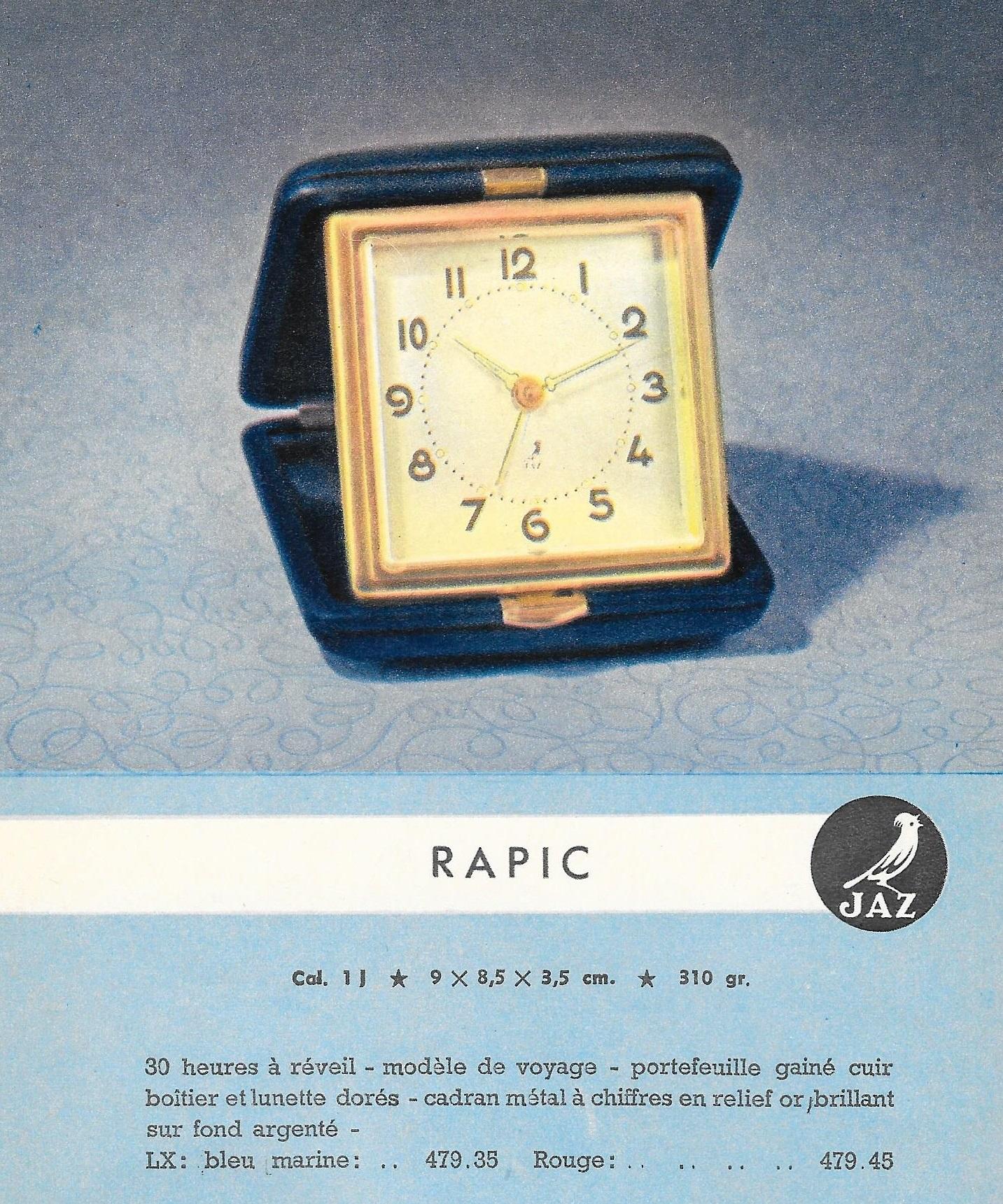rapic 2 catalogue belge 1950