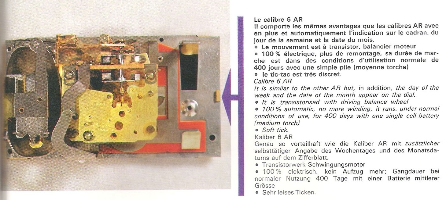 calibre 6 AR catalogue 1968-69 page 35