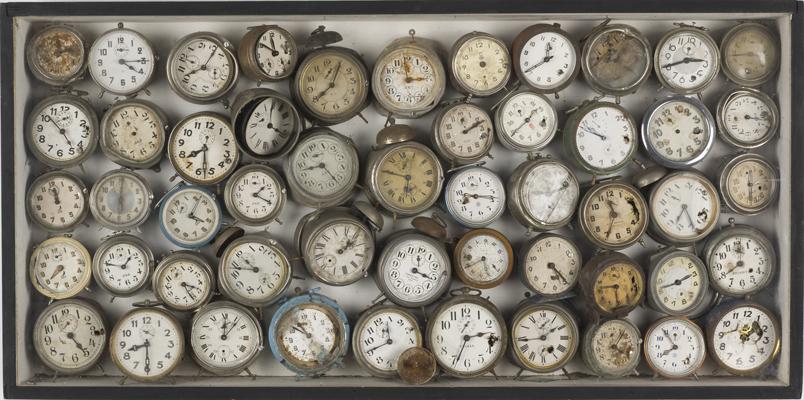Arman, Alarm Clocks (Reveils), 1960. Collection Museum of Contemporary Art, Chicago