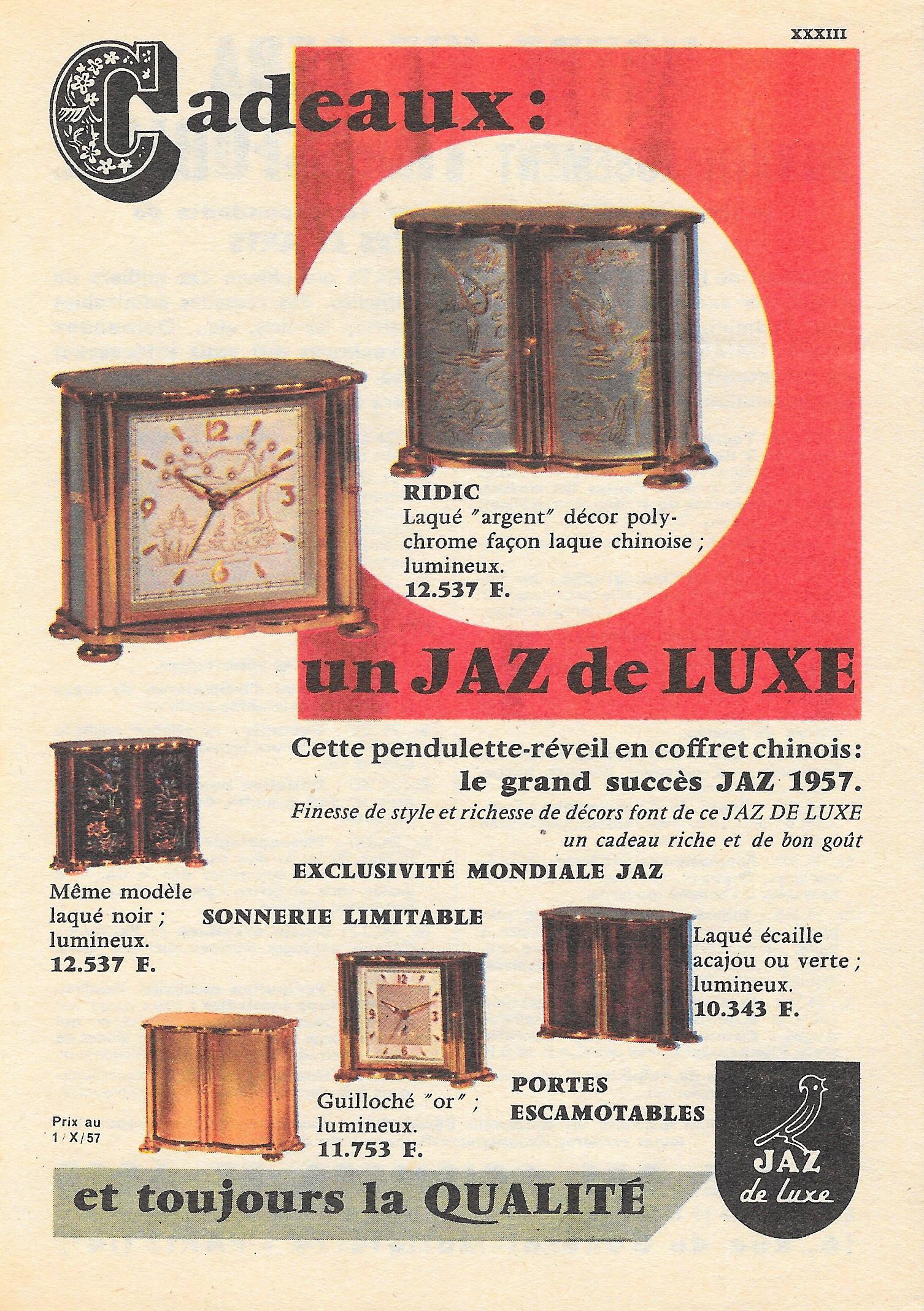 ridic couleurs 1957