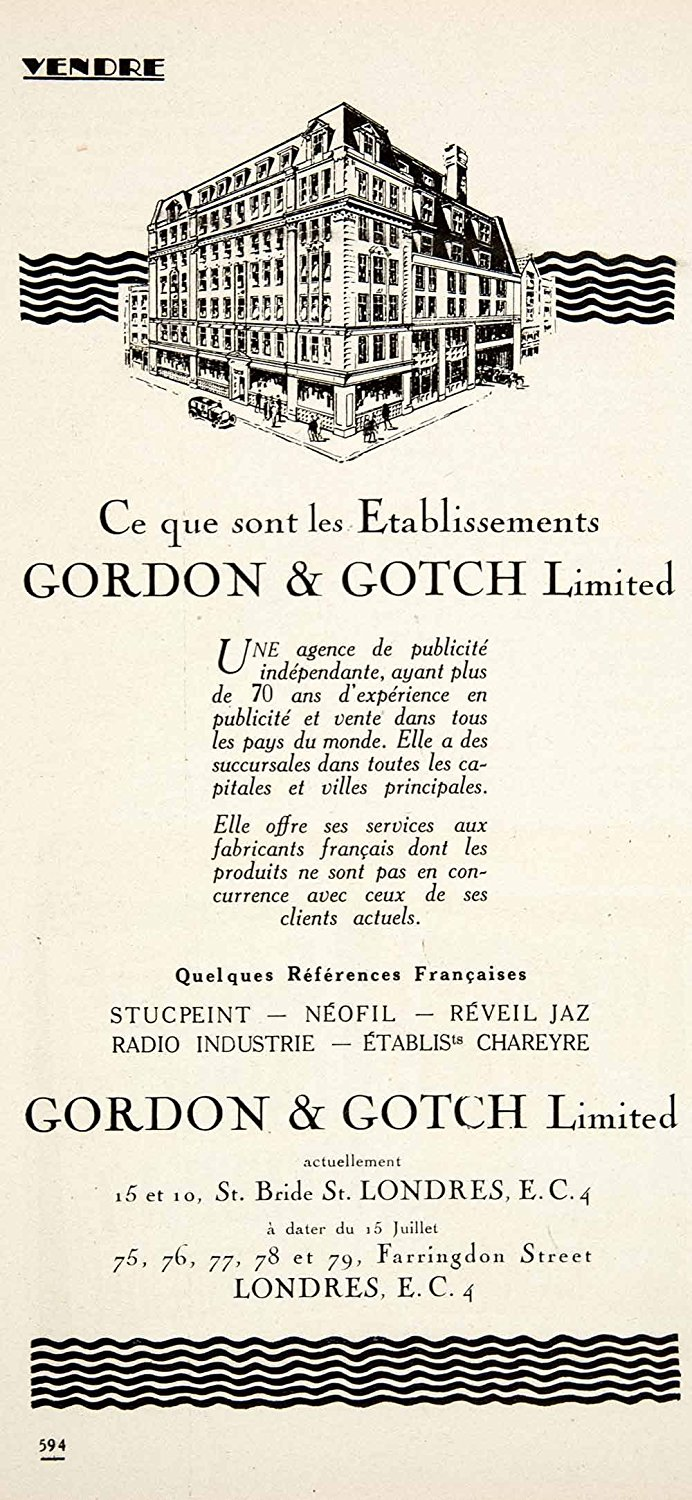 Gordon & Gotch 1925