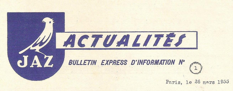 Actualités n°1 1955 une