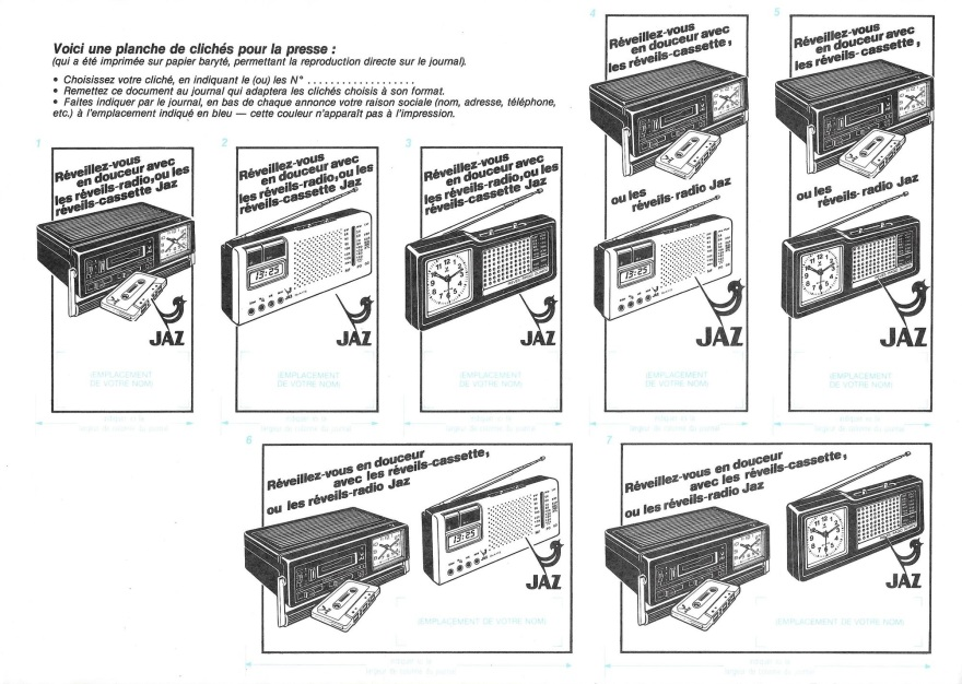 cliché radio K7 papier baryté
