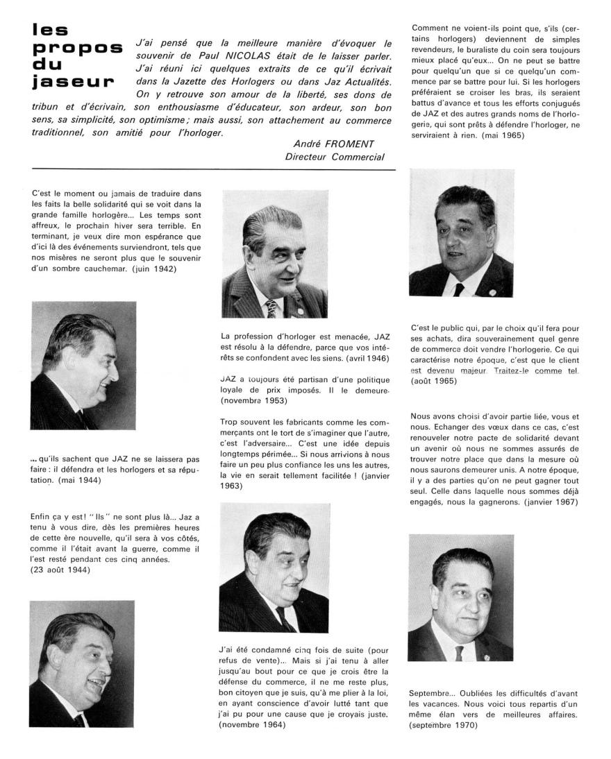 Jazette 1970 Décembre page 03 Paul Nicolas