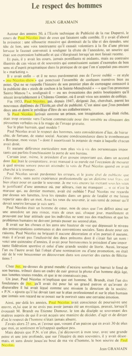 jean gramain hommage à Paul Nicolas