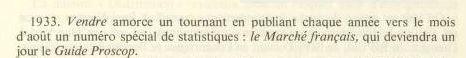 marché français proscop