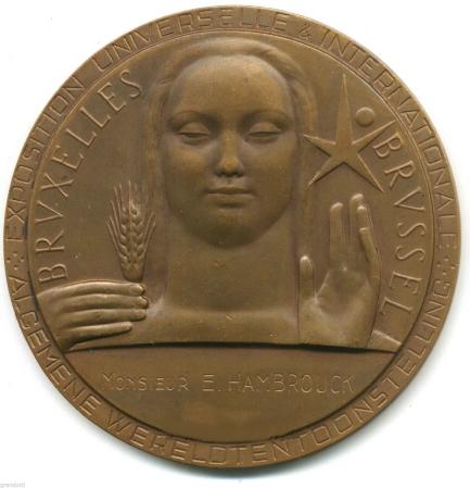 médaille Bruxelles recto