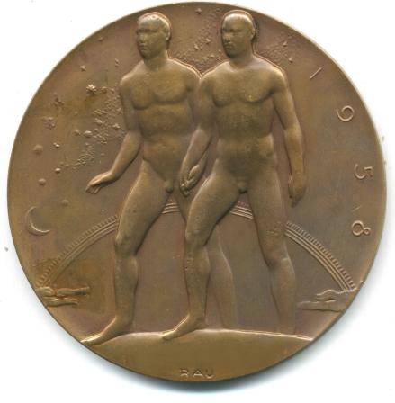 médaille Bruxelles verso