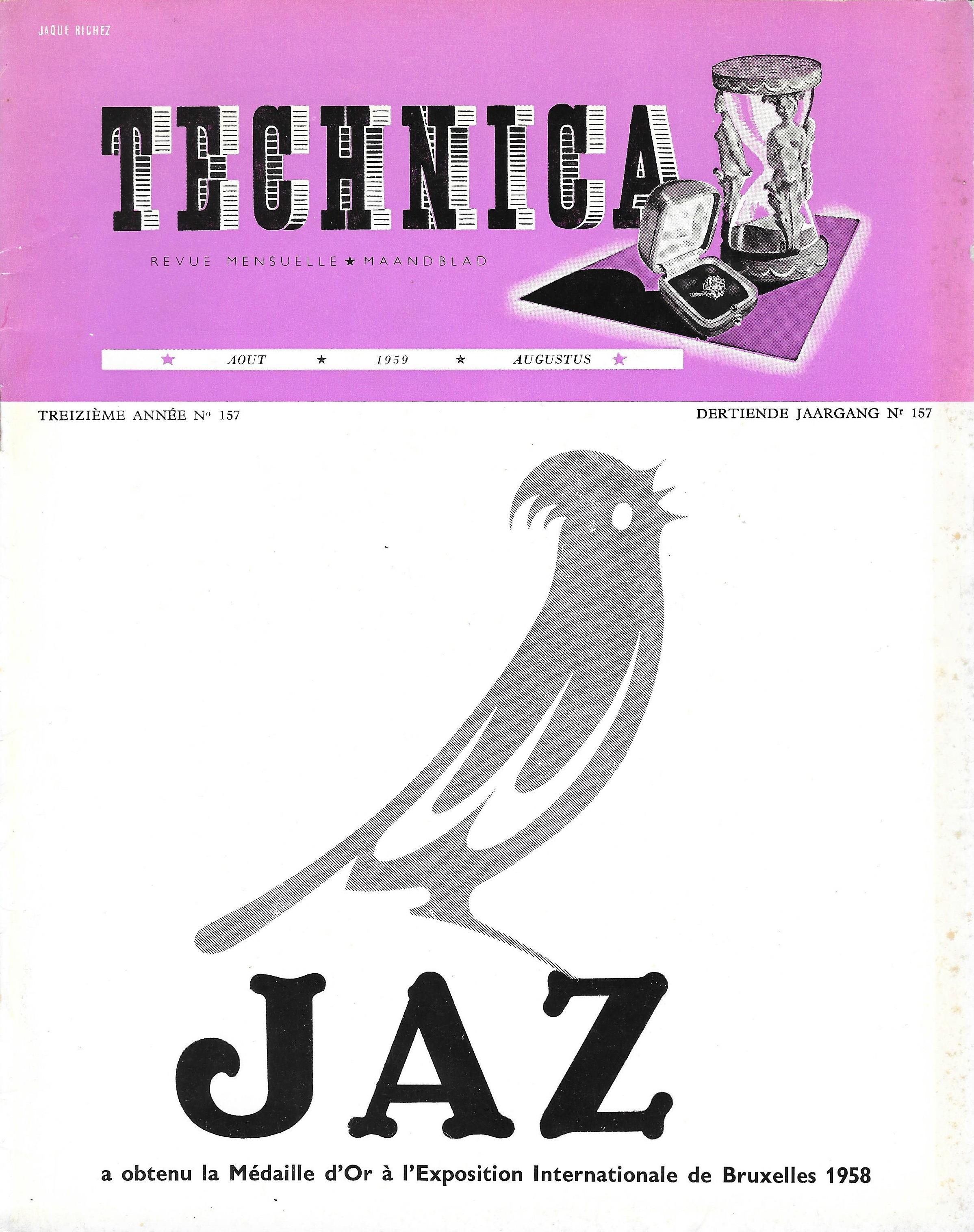 TECHNICA n°157 Août 1959 une