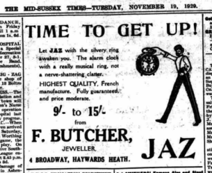 1929 nov 19 The mid sussex Times