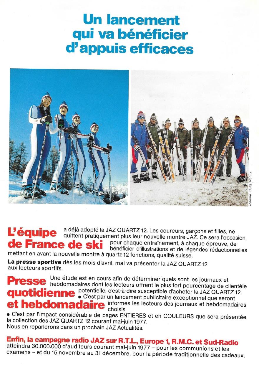 équipe de ski 1977