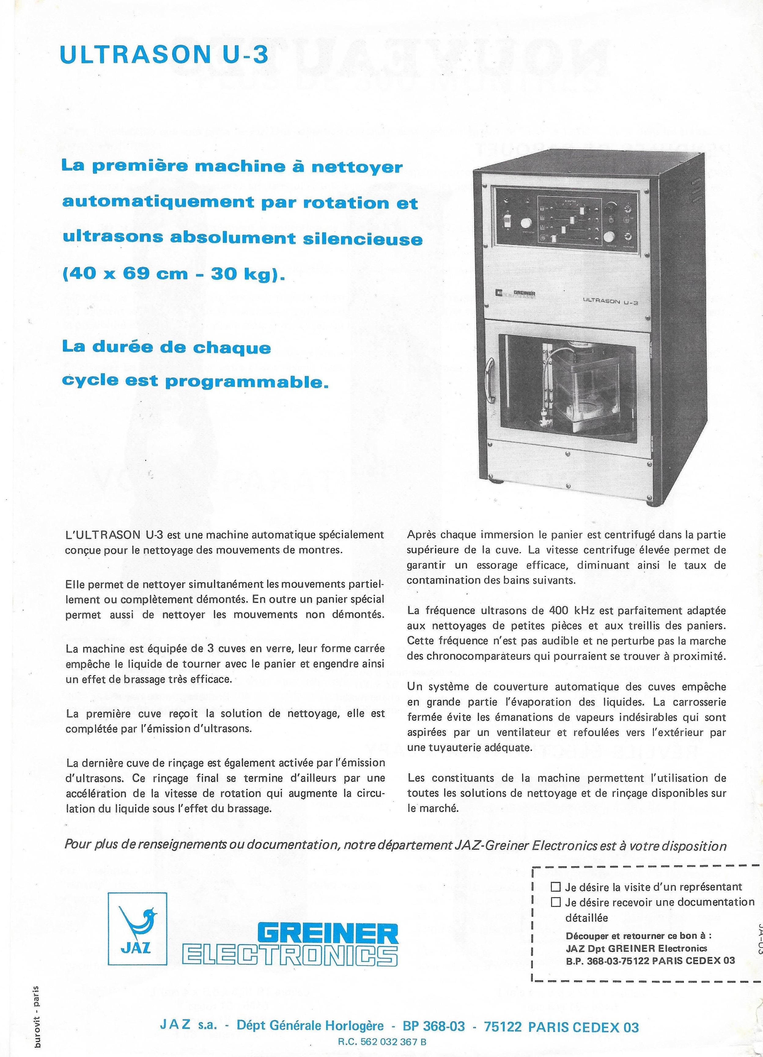 Jaz Actualités 1° Juillet 1977