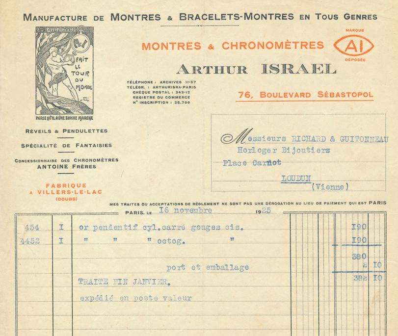 facture 1925