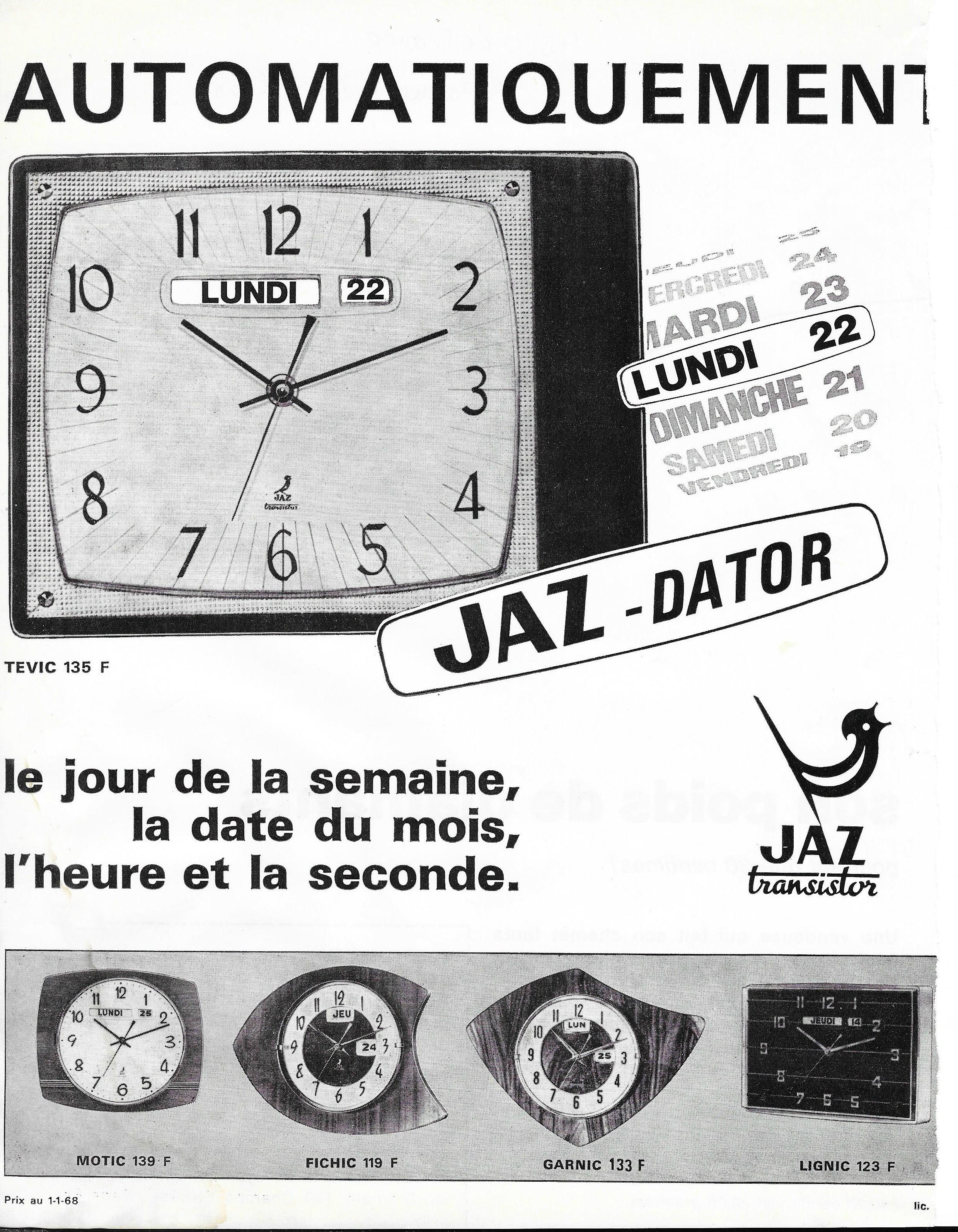 1968 HBJO de France Avril 1968