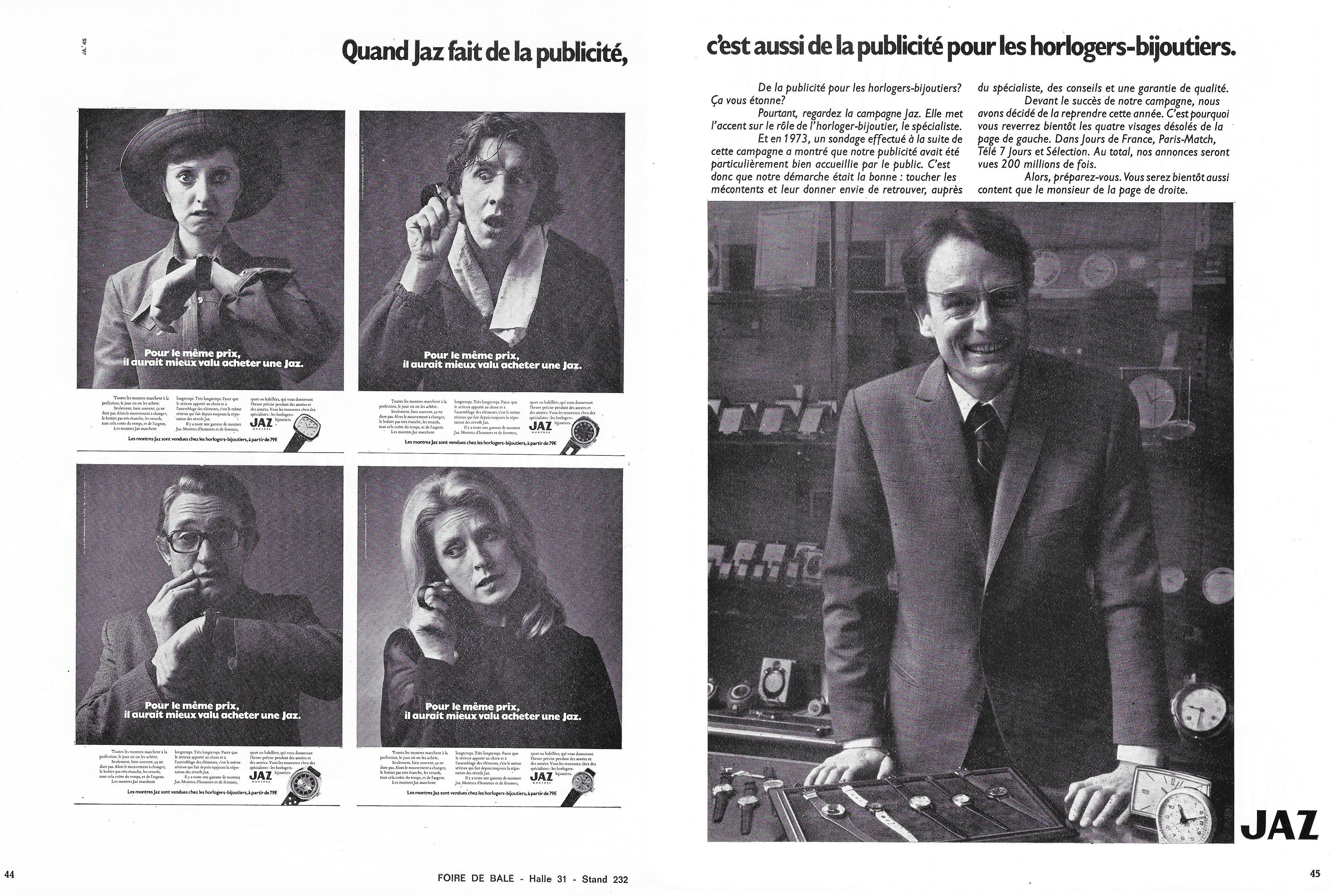 1974 la france horlogère n°341 Mars 1974 page 44 et 45