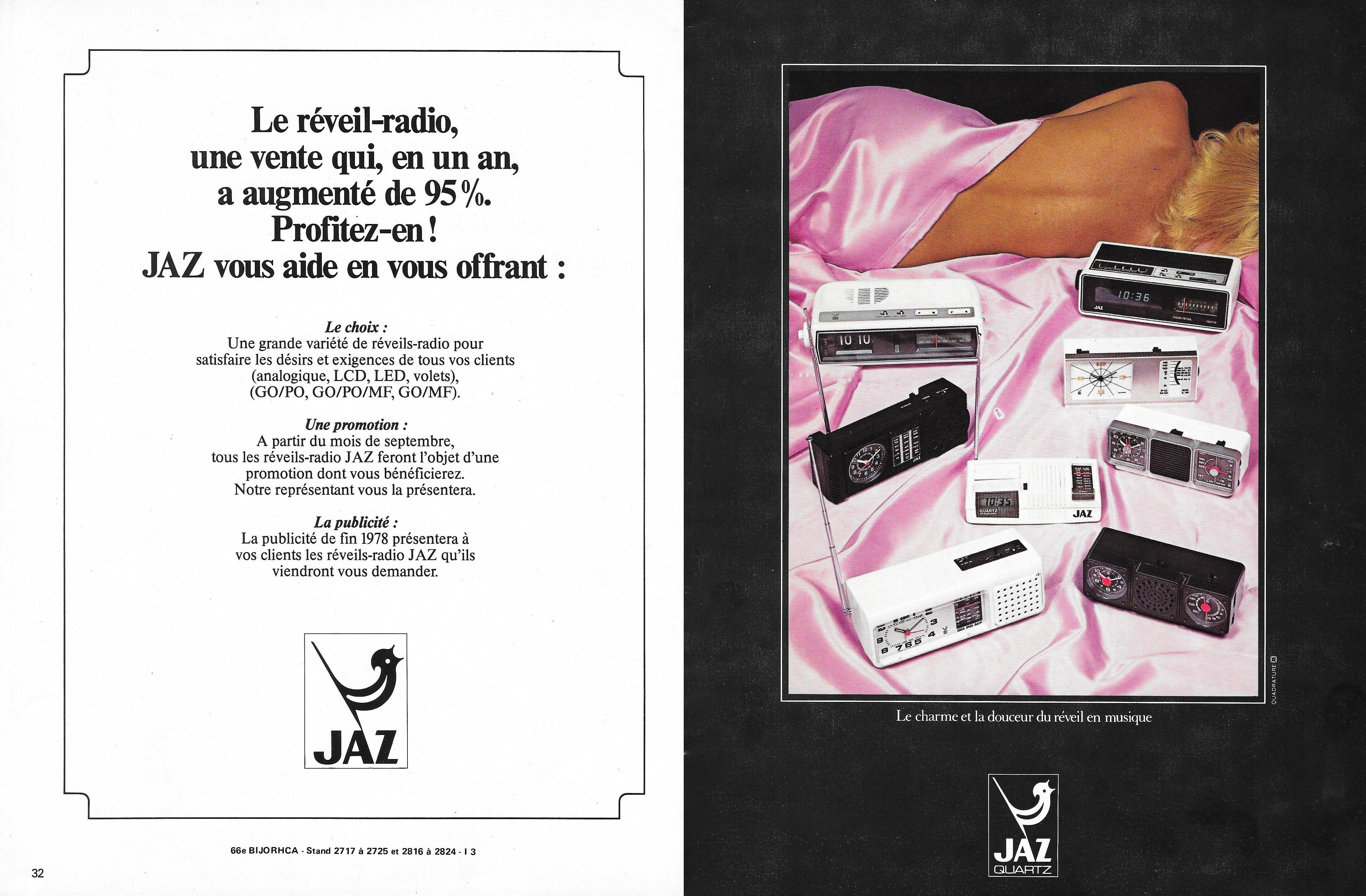 1978 La France Horlogère n°392 sept 78 réveils radio page 32 et 33