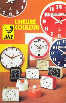 affichette Jaz l'heure couleur
