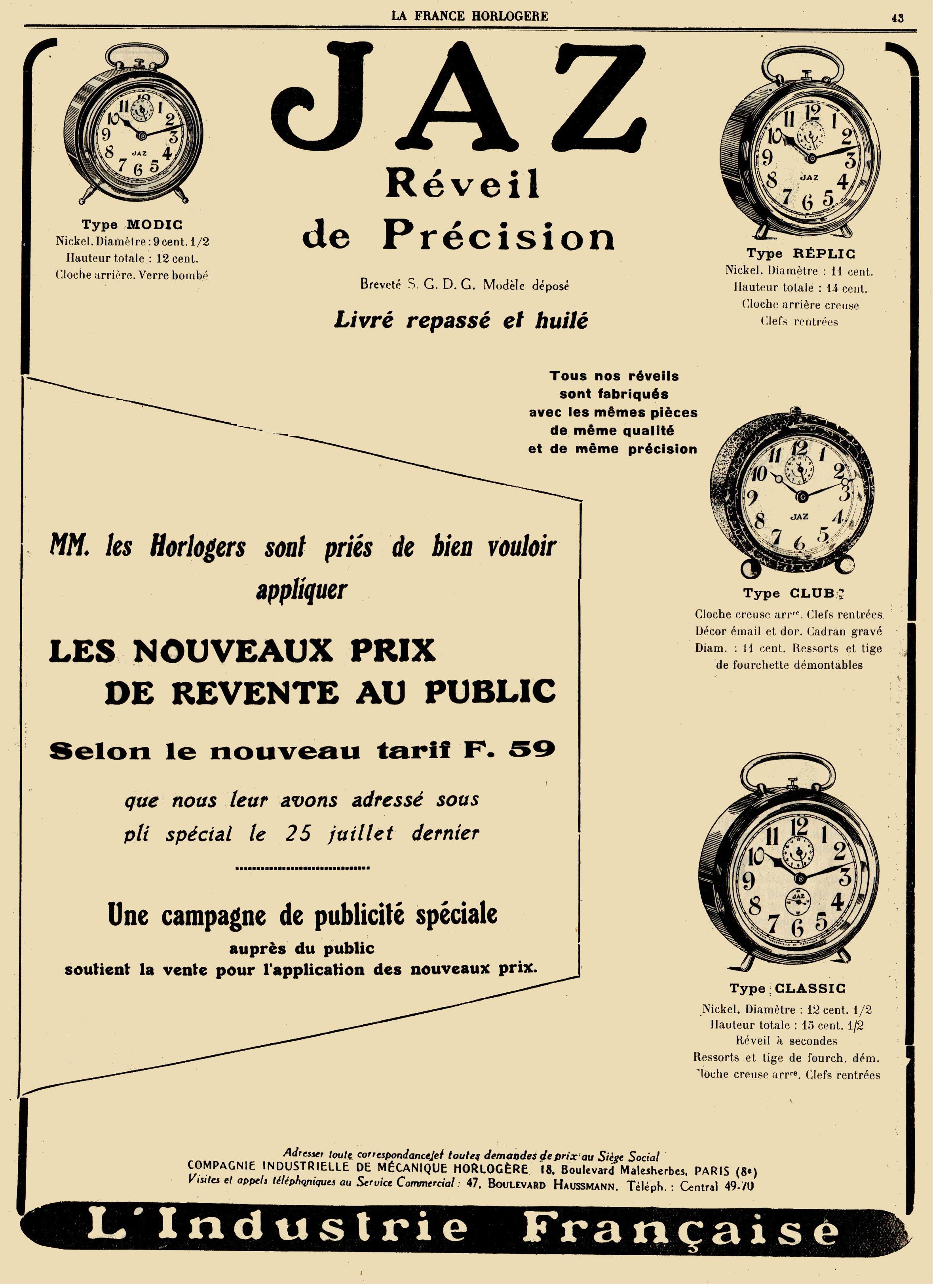 Jaz La France Horlogère 1°Oct 1927 26°année n°19.jpg