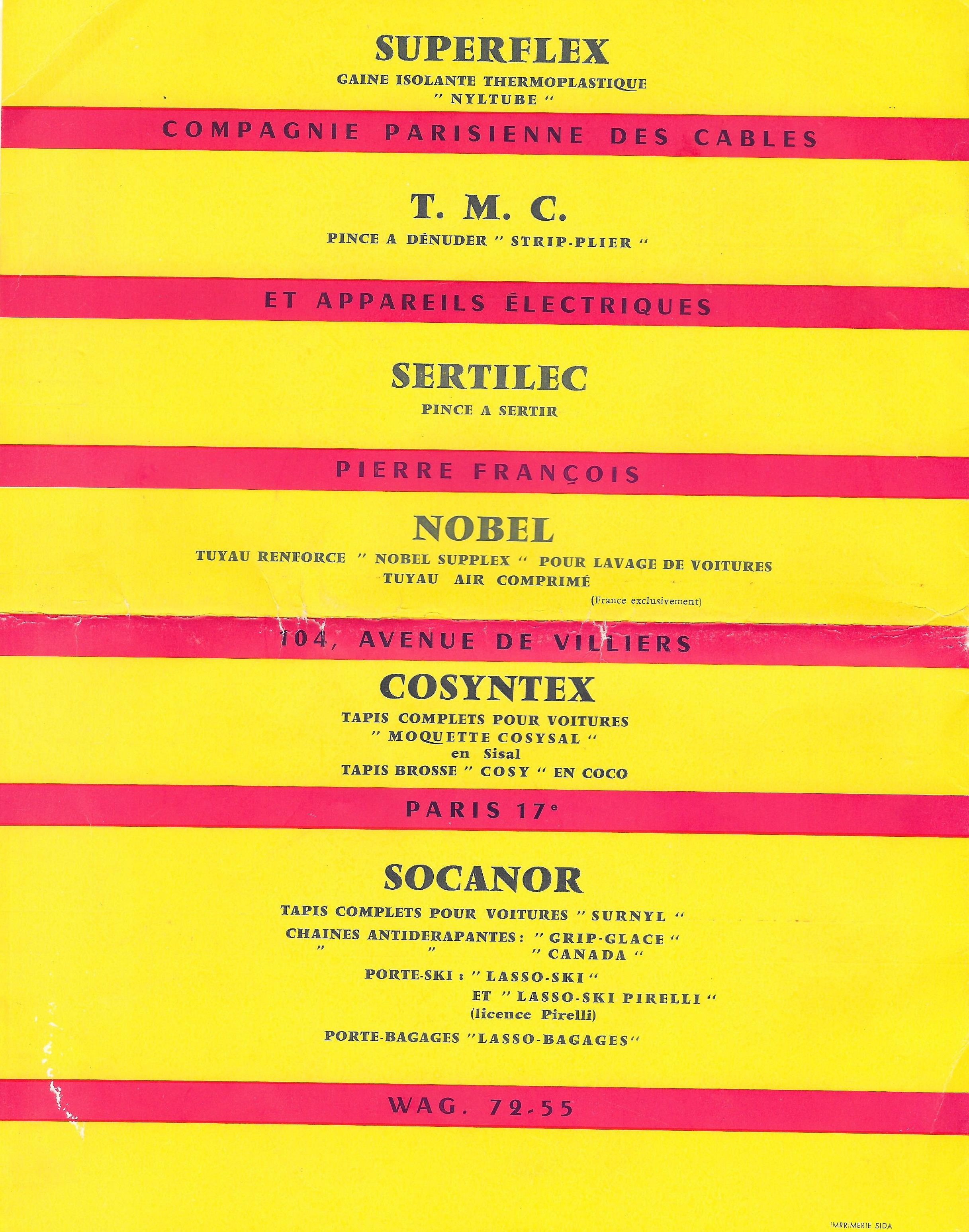 salon de l'auto 1957 1958 couverture 4