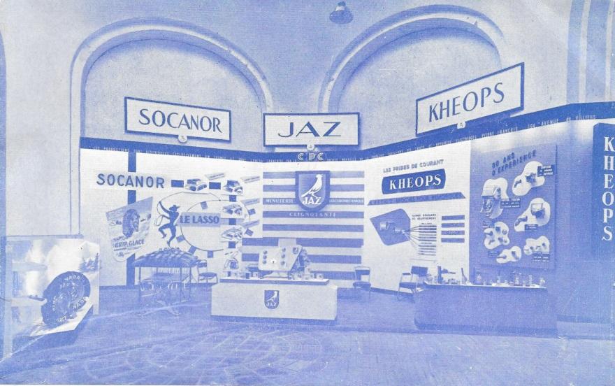 salon de l'auto 1957 1958 stand entier