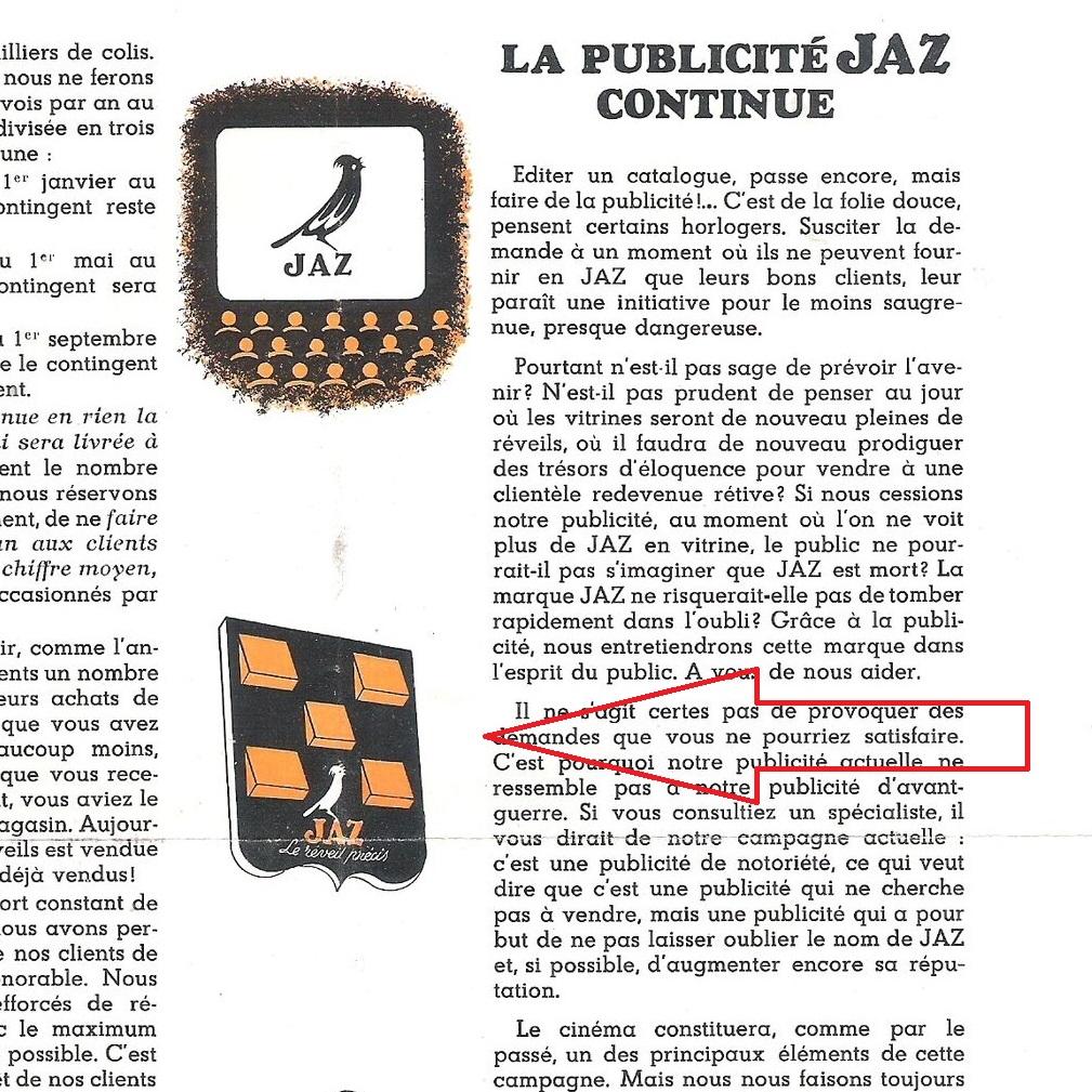 extrait Jazette Juin 1942 page 3