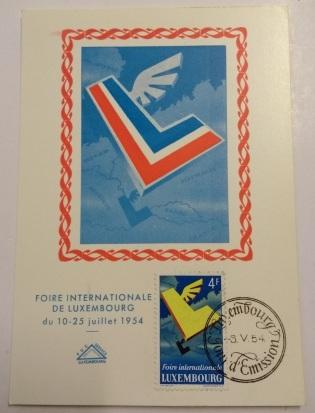 foire internationale de luxembourg 10 à 25 juillet 1954
