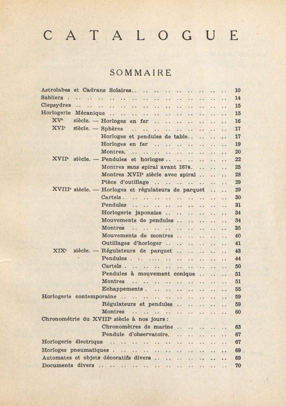 1949 CNAM sommaire