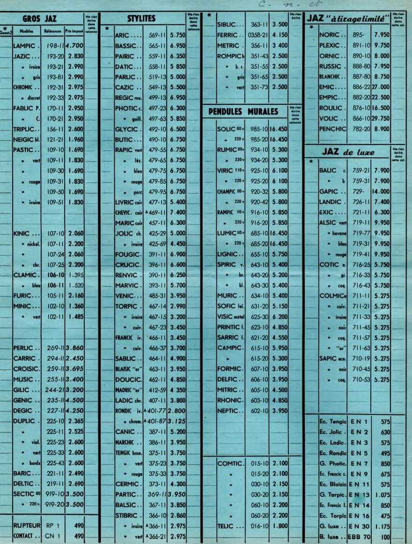 1953 bon de commande du tarif FC 53 Août 1953
